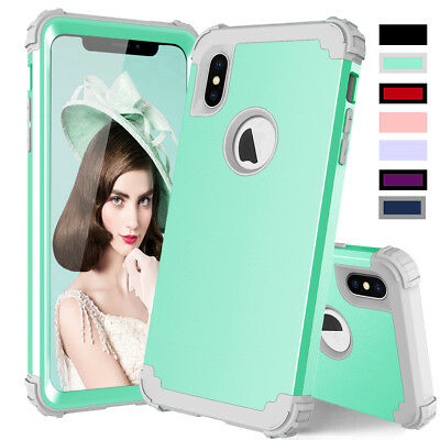 For Apple iPhone X/XS/Max/XR Shockproof Tough Bumper Heavy Duty Slim Case Cover