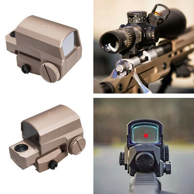 Airsoft Style Holographic Tactical Red Dot Sight 2 MOA Mount For Hunting Scope