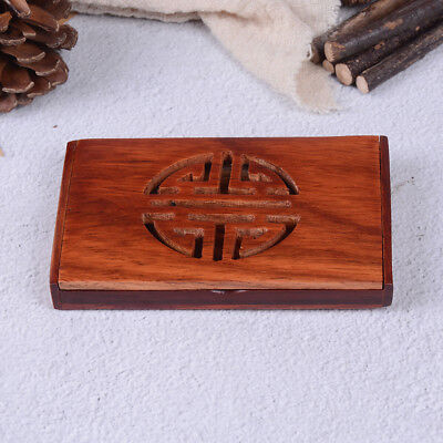 Wooden Name Card Business Card Holder Handmade Box Storage id credit case HU