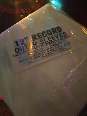 """(20) 12"""" Record cover LP Outer Sleeves - PREMIUM - 4mil Thick protection"""