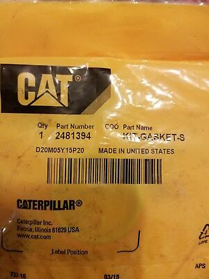 Genuine Caterpillar 2481394 KIT-GASKET-S