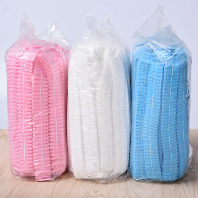 100pcs Disposable Shower Caps Bathing Elastic Hair Tanning New Protector Hat