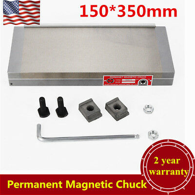 """150*350mm(6"""" X 14"""")Permanent Magnetic Chuck For Grinding Machine 100N-120N USA"""