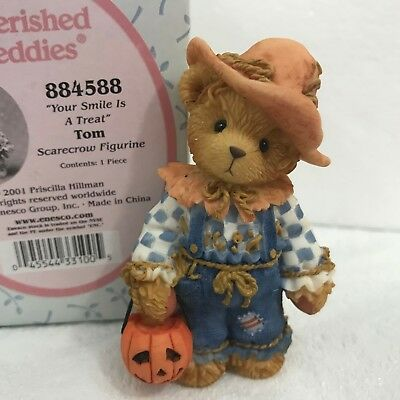 Cherished Teddies Tom 884588 Teddy Bear Scarecrow Fall Your Smile is A Treat