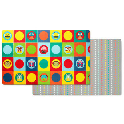 Skiphop Doubleplay Reversible Kids Baby Activitty Play mat - Zoo