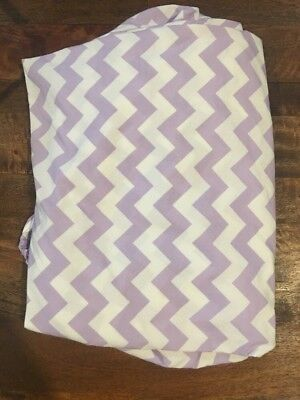 Pottery Barn Kids Baby Lavender Purple Chevron crib fitted sheet great condition