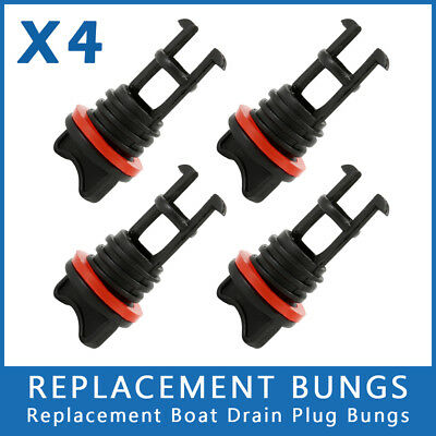4 x REPLACEMENT BUNGS ONLY - MARINE/BOAT DRAIN BUNG PLUGS STANDARD COARSE THREAD