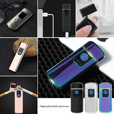 USB Charging Electronic Rechargeable Flameless Windproof Cigarette Torch Lighter