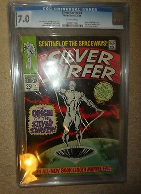 Marvel Comics Silver Surfer 1 CGC 7.0  fantastic four
