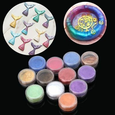12 Box Slime Dye Powder Pearl Mica Pigment Colorants Soap Candle Resin Jewelry