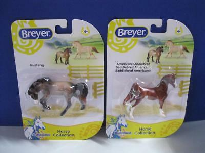 Breyer Stablemates Horse Collection Saddlebred/mustang 1:32 New Noc Nip Pony Lot