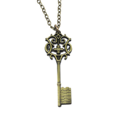 Movie the Nutcracker and the Four Realms Key Necklace Chain Cosplay Prop Jewelry