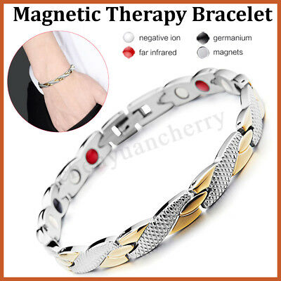 Bio Titanium Steel Magnetic Therapy Bracelet Health Care Gift Trendy Charming