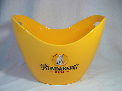 Bundaberg Rum ICE BUCKET Bright Yellow Plastic Melamine BUNDY COLLECTORS - VGC