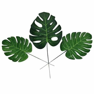 20pcs Fashion Faux Artificial Tropical Palm Leaves Green For Home Decorations