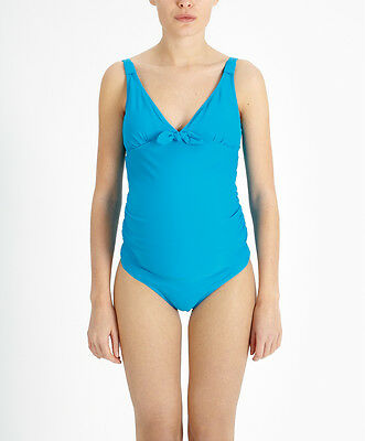 b2ab24cffd376 NEW Mamas and Papas M&P Turquoise Bow Maternity Swimming Suit Tankini Size 6