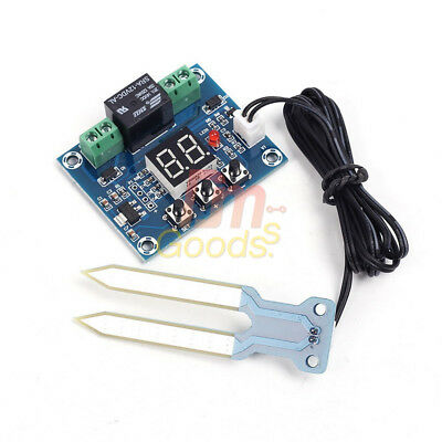 12V LED Soil Moisture Sensor Controller Humidity Automatically Watering Control