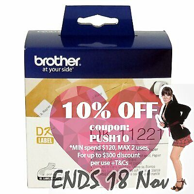 Brother DK-11221 White Square Die-Cut Labels 23mm x 23mm, 1000 Labels per rol...
