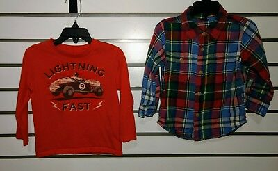 Baby Gap Toddler Boy Long Sleeve T-shirts Size 18-24 Months #29