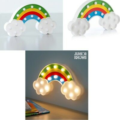Lampara infantil diseño Arcoiris 16 Luces LED 30x16x3,5 cm,ideal luz quitamiedos