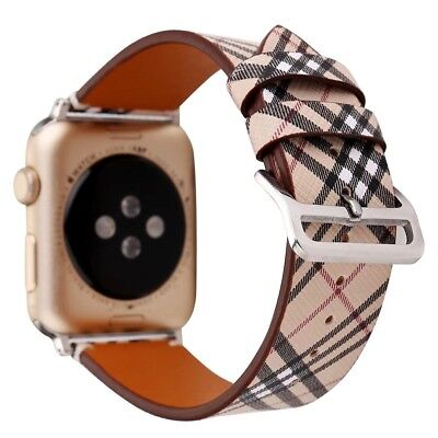 Fancy Pattern Leather Replacement Band For Apple Watch 1 2 3 4 42mm 38mm