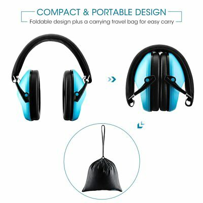Folding Ear Muffs Shooter Hearing Protection Noise Reduction Defenders Kid Child