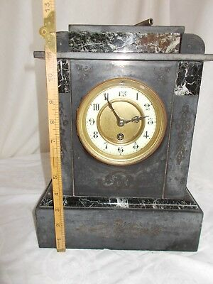 Antique (Victorian) Slate and Marble Mantle Clock - Not Running