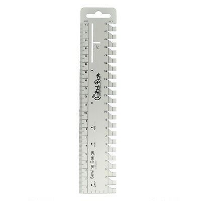 Quilted Bear Premium Sewing Gauge/Ruler with Angle & Compass Markings