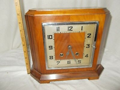 Vintage Art Deco Style Mantle Clock - Not Working