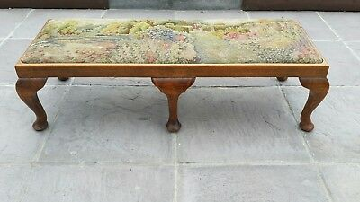 Antique Tapestry Bench.