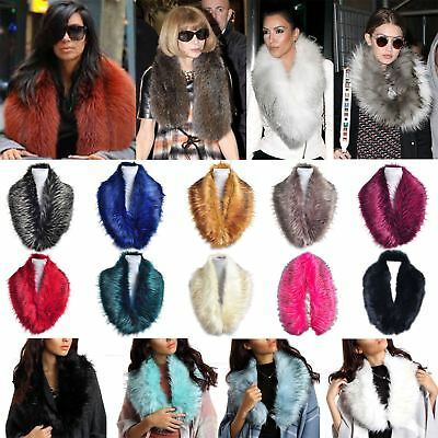 New Ladies Synthetic Fur Collar Design Winter Scarf Neck Warmer