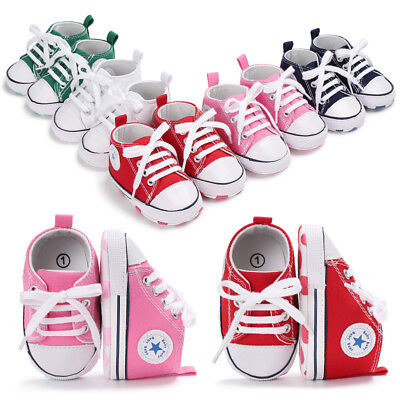 UK Newborn Baby Boy Girl  Shoes Infant Sneakers Toddler PreWalker Trainers 0-12M