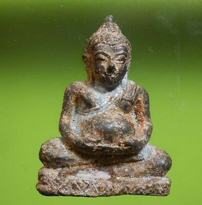 Perfect! Old Thai Buddha Amulet Statue Phra Ayutthaya Very Nice
