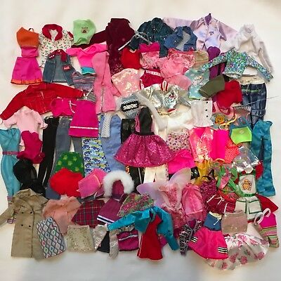Lot 80+ Pieces Barbie Doll Clothes Fashionista Skirts Pants Tops Jackets Dresses