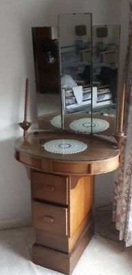1930's solid wood Mirrored dresser