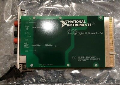 National Instruments NI PXI-4060 Digital Multimeter Card 5-1/2 Digit DMM