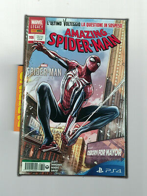 Amazing Spider-Man 705 - Marvel Legacy - Spider-Man 705 L'Uomo Ragno cover PS4