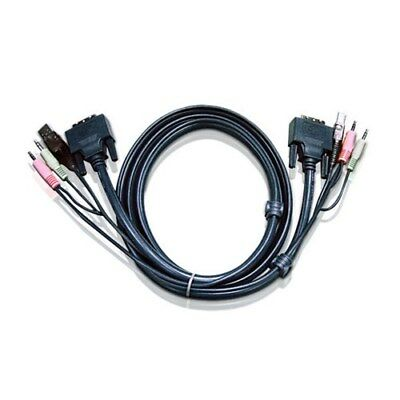 ATEN 3.0m DVI-D (Single Link) Male to Male with USB Type A Male to Type B Fem...