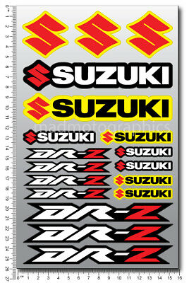 Suzuki DR-Z 125 drz 400 fairing decal sheet high quality stickers Laminated DR Z