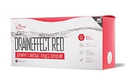 DrainEffect red drainage drink to start the process of losing weight for a diet