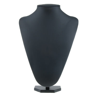 Black Mannequin Necklace Jewelry Pendant Display Stand Holder Show Decor D