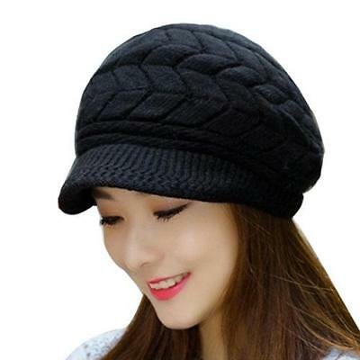 d6b94e447b64a Warm Wool Hat 2017 Winter Knit Women Hat Slouchy Hats Ladies Beanie Girls  Caps
