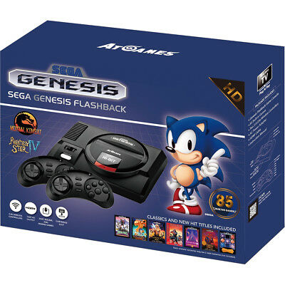 Sega Genesis Flashback HD HDMI Classic Game Console w Two Controllers & 85 Games