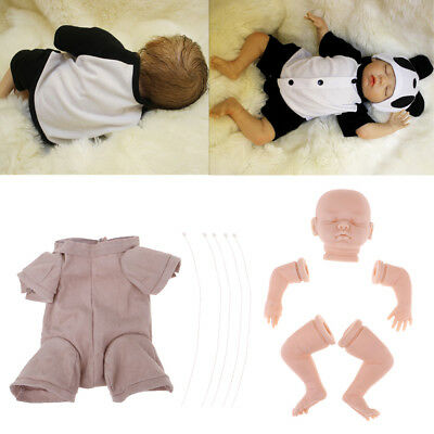 18'' Doll Cloth Body & Vinyl Reborn Doll Baby Unpainted Body Limbs DIY Kits