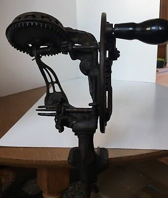 Vintage Reading Hardware 78 Cast Iron Apple Peeler Antique Kitchen Works Good