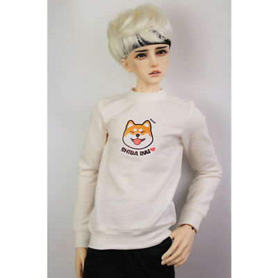 Fashion Doll Clothes Sweatshirt Pullover Top For 70cm Uncle BJD Outfit White
