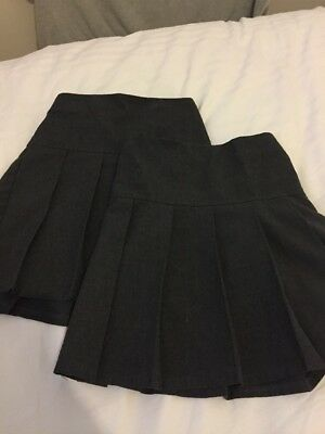 ec5ec23c9 BUNDLE GIRLS SCHOOL Uniform Pleated Grey Skirts 2 M&S 6-7 1 From ...