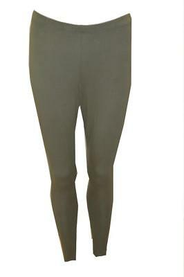Plus Size Curve Womens Full Length Stretch Mid Rise Leggings - Green