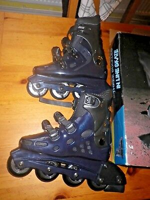 Three Buckles In Line Skates  Size 7