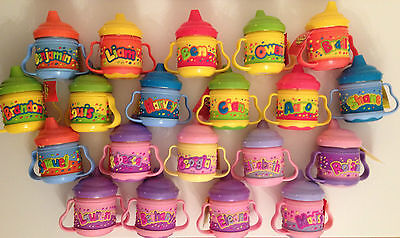 Girls/Boys Baby/Toddler Childrens Personalised/Name Sippy/Training Cup Non-Spill